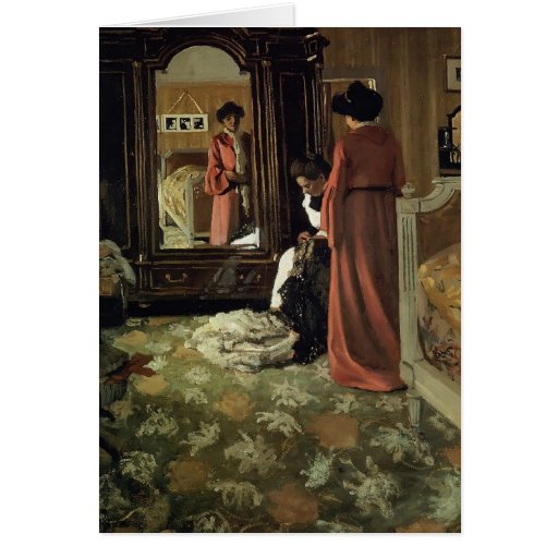 Felix Vallotton -Interior,Bedroom with Two Figures Card