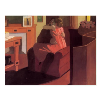Felix Vallotton - Intimacy Couple in Interior Postcard
