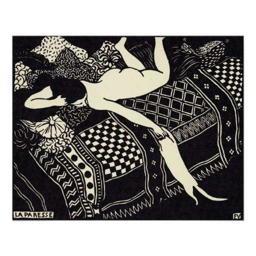 F lix vallotton la paresse 1896 poster zazzle - Vallotton architect ...
