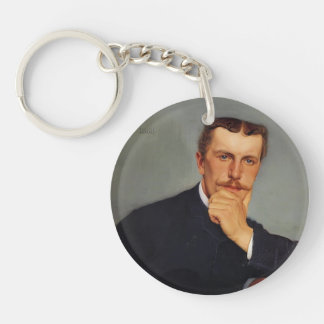 Felix Vallotton - Portrait of the Artist`s Brother Single-Sided Round Acrylic Key Ring