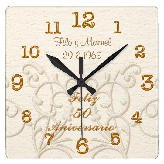 Feliz 50 Aniversario with Couple's NAMES and DATE