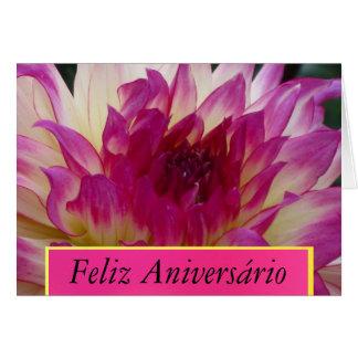 Feliz Aniversário - La Dalia Púrpura Greeting Card
