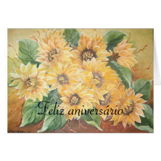 feliz anniversário greeting card