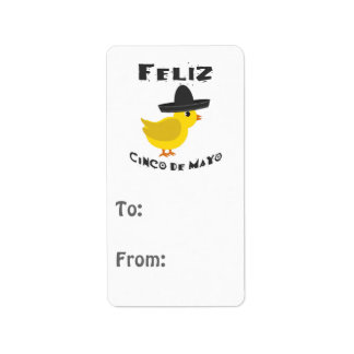 Feliz Cinco De Mayo Chick Address Label