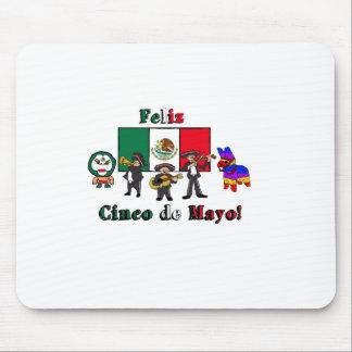 Feliz Cinco de Mayo! Holiday Cartoon Illustration Mouse Pad
