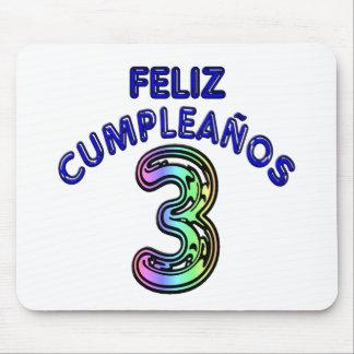 Feliz Cumpleaños 3 Mousepad