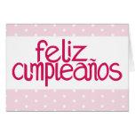Feliz Cumpleaños hot pink Card