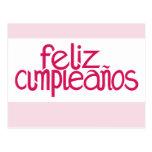 Feliz Cumpleaños hot pink Postcard