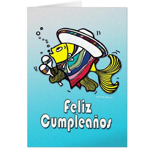 FELIZ CUMPLEAÑOS mexican fish spanish birthday Card
