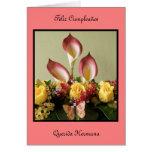 Feliz Cumpleaños querida hermana Greeting Card