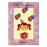 Feliz Cumpleaños sobrina Greeting Cards