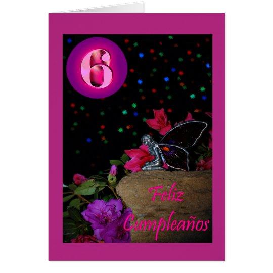 Feliz Cumpleaños Spanish Birthday fairy faerie Card