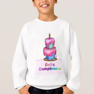 Feliz cumpleaños Spanish fun Birthday Cake gift Sweatshirt
