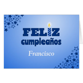 Feliz cumpleanos spanish personalized birthday card