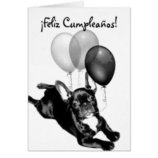Feliz Cumpleaños tarjeta de Bulldog Frances Card