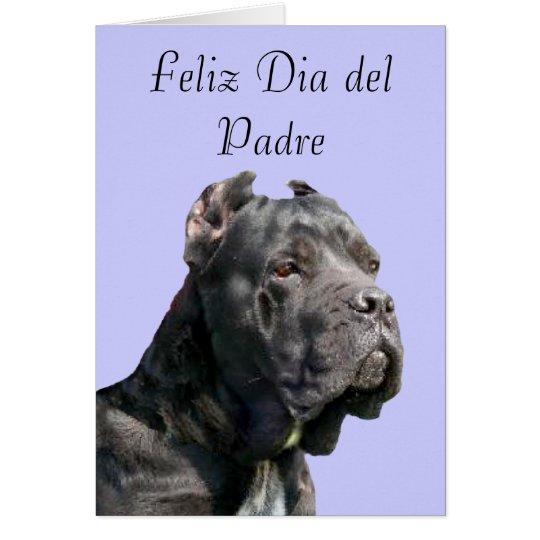 Feliz Dia  del Padre Cane Corso Greeting Card