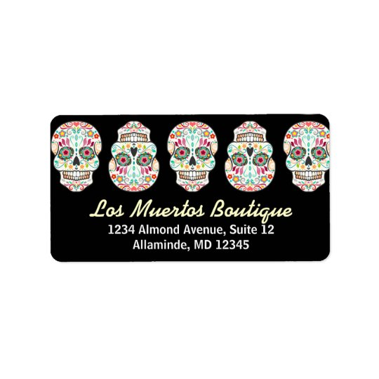 Feliz Muertos - Custom Sugar Skull Address Labels