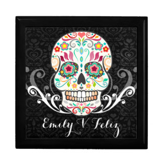 Feliz Muertos - Custom Sugar Skull Keepsake Box