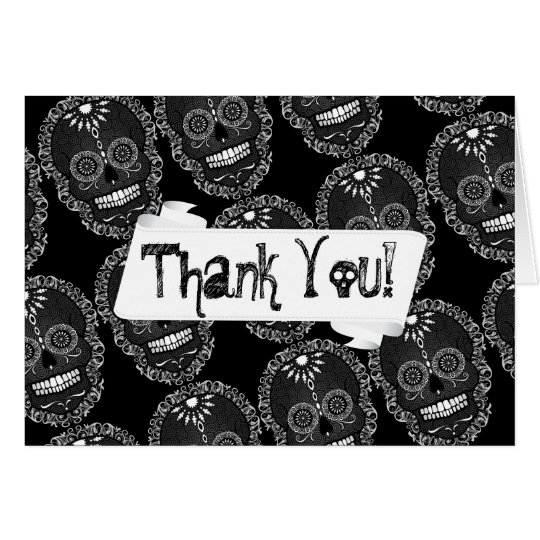 Feliz Muertos - Custom Sugar Skull Thank You Card