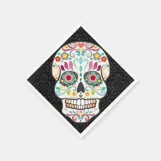 Feliz Muertos - Festive Sugar Skull Paper Napkins