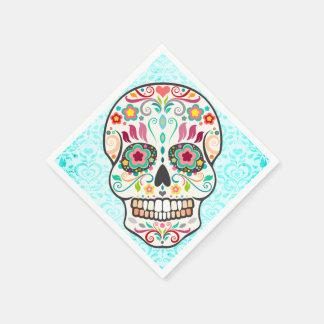 Feliz Muertos - Festive Sugar Skull Paper Napkins Disposable Napkin
