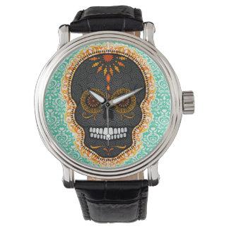 Feliz Muertos - Festive Sugar Skull Wrist Watch