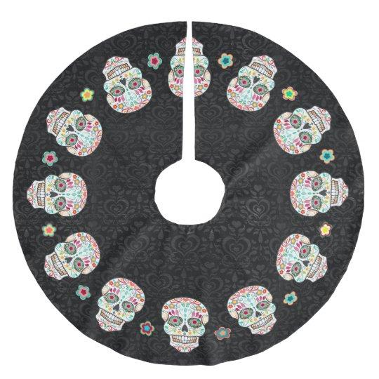 Feliz Muertos - Festive Sugar Skulls Brushed Polyester