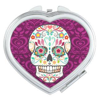 Feliz Muertos - Happy Sugar Skull Compact Mirror