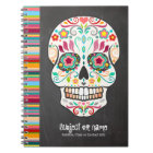 Feliz Muertos - Sugar Skull Custom Notebook
