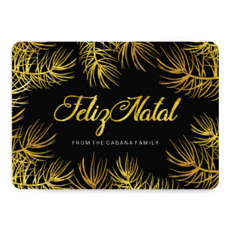 Feliz Natal Greeting Card 13 Cm X 18 Cm Invitation Card