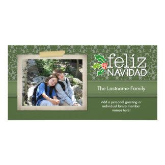 Feliz Navidad - 1 foto Personalised Photo Card