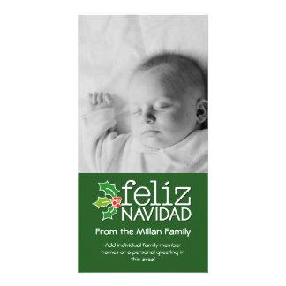 Feliz Navidad - 1 vertical photo Card