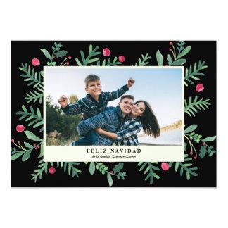 Feliz Navidad Acuarela   Tarjeta de Navidad Card
