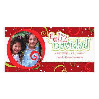 feliz navidad (alegre) photo greeting card