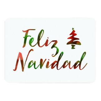 Feliz Navidad (bokeh tree lights) 13 Cm X 18 Cm Invitation Card