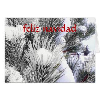 Feliz Navidad Caballo en Nieve - Spanish Christmas Greeting Card