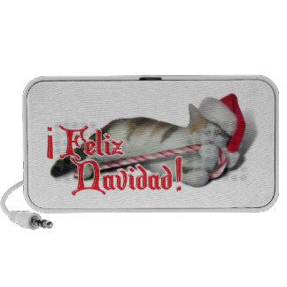 Feliz Navidad - Candy Cane Kitty Mini Speakers