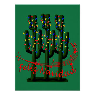 Feliz Navidad Christmas Fiesta Party Poster