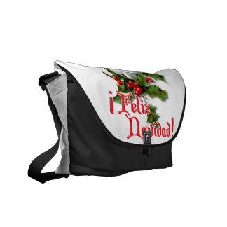 Feliz Navidad - Christmas Kitten Messenger Bag