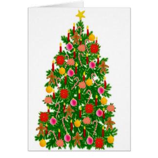Feliz Navidad Christmas Tree Card