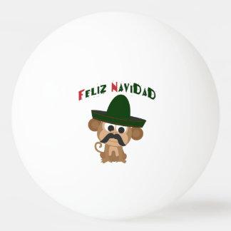 Feliz Navidad! Cute monkey Ping Pong Ball