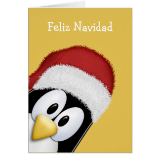 Feliz Navidad Cute Penguin Card