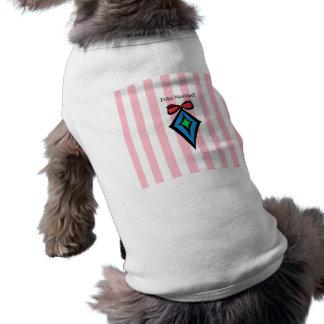 Feliz Navidad Diamond Ornament Doggie Tank Top PNK Sleeveless Dog Shirt