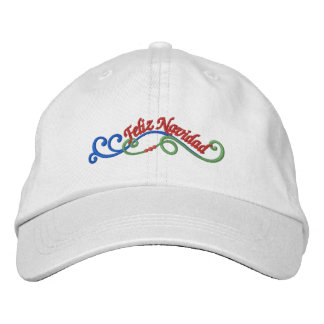 Feliz Navidad Embroidered Baseball Cap