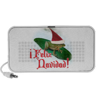 Feliz Navidad - Frog Dashing Through the Snow Mini Speakers