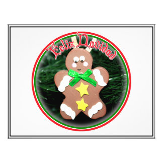 Feliz Navidad - Gingerbread Man Ornament Flyer Design