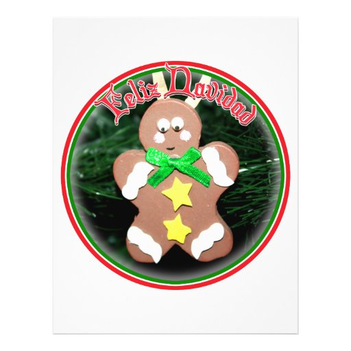 Feliz Navidad - Gingerbread Man Ornament Flyers