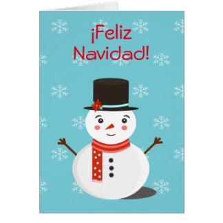 """Feliz Navidad"" Greeting Card with Snowman"