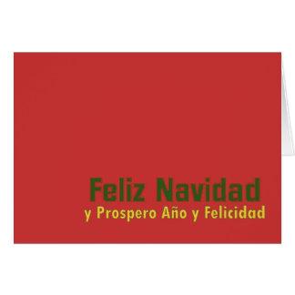 Feliz Navidad Greetings! Card
