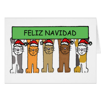 Feliz Navidad Happy Christmas in Spanish Card